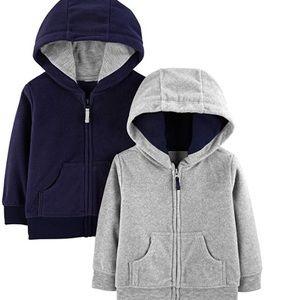 Carters fleece hoodies (2 pack)